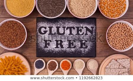 Glutenvrij dieet opties zaden producten Stockfoto © lightkeeper