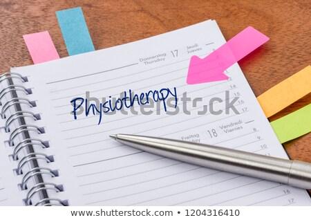 Minden nap tervező fizioterápia munka naptár masszázs Stock fotó © Zerbor