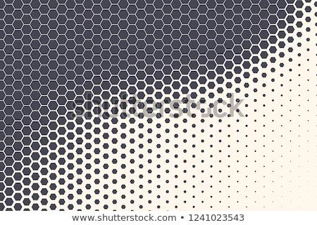 モノクロ ダイナミック ハーフトーン ベクトル 三角形 ストックフォト © TRIKONA