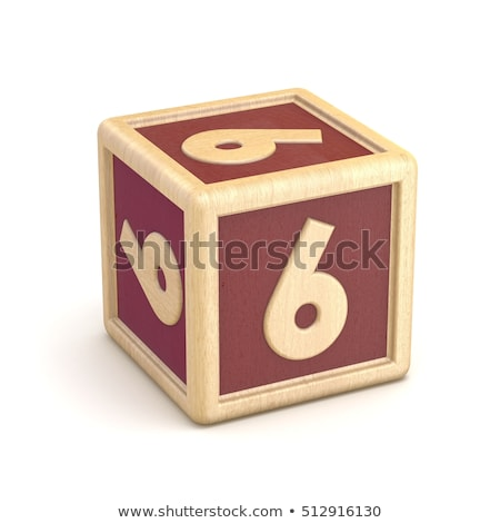 numbers wooden alphabet blocks font rotated 3d stock photo © djmilic
