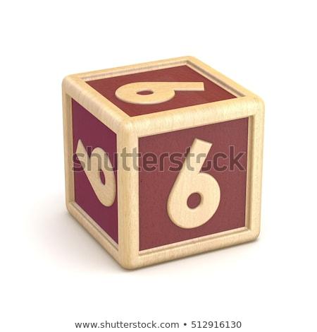 Sayılar ahşap alfabe bloklar 3D Stok fotoğraf © djmilic