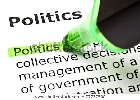 Democracia verde palabra punta pluma papel Foto stock © ivelin