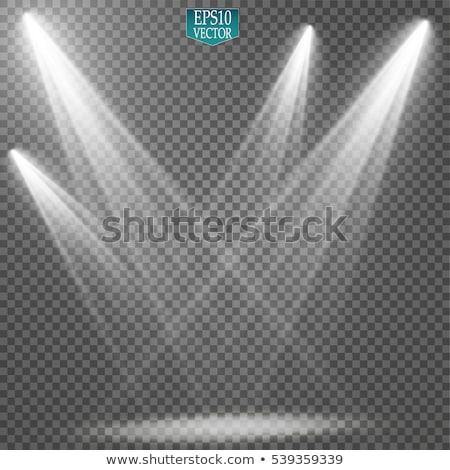Illuminated spotlights on transparent background stock photo © Evgeny89