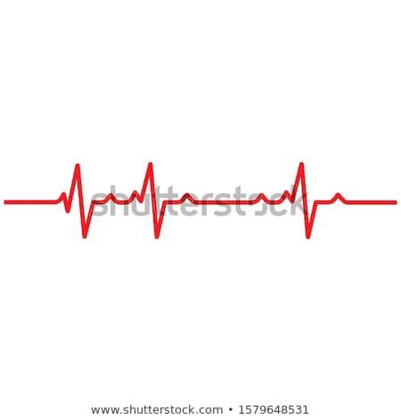 Medycznych bicie serca ilustracja duży czerwony serca Zdjęcia stock © alexaldo