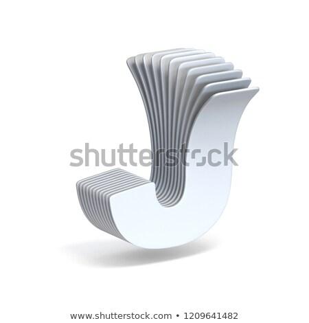 紙 手紙 3D 3dのレンダリング 実例 孤立した ストックフォト © djmilic