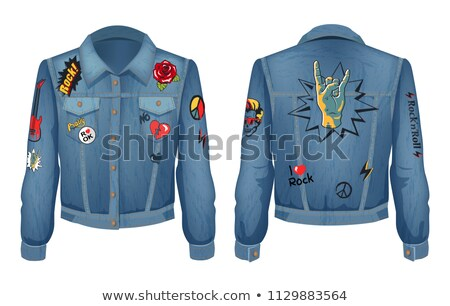 Rock Music Outfit Jeans Set Vector Illustration Stock photo © robuart
