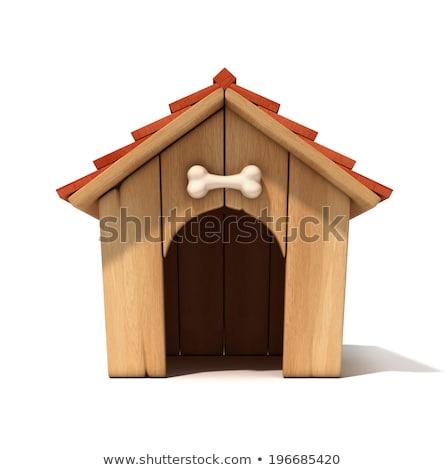 Cartoon Dog Wood Sign Stock photo © cthoman