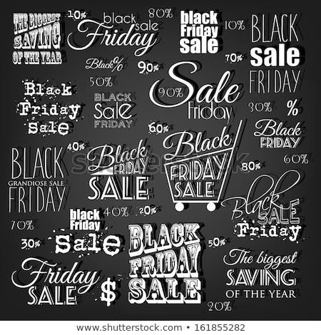 black · friday · vásár · grunge · poszter · rózsaszín · akció - stock fotó © marysan