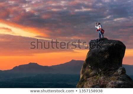 man and girl free climber Stock photo © adrenalina