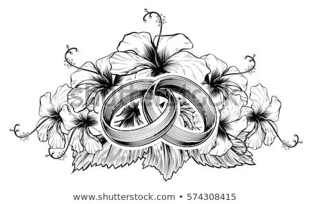 Düğün ebegümeci çiçekler düğün davetiyesi kurtarmak gün Stok fotoğraf © Krisdog