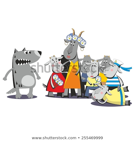 Desen animat viclean capră ilustrare copil tineri Imagine de stoc © cthoman