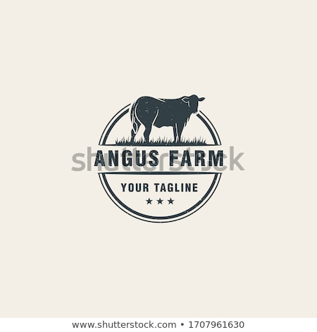 cow vector icon logo symbol Stock photo © blaskorizov