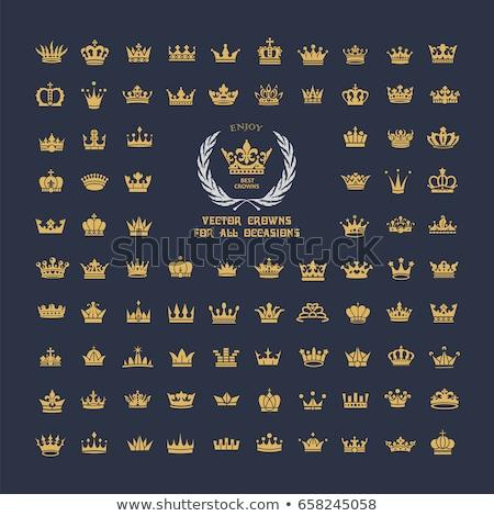 Altın kral taç vektör logo logo tasarımı Stok fotoğraf © blaskorizov