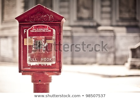 Fire and police emergency call box in New York City Stock photo © boggy