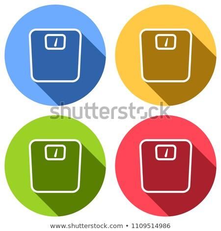 Waga łazienkowa kolor ikona cień kolorowy circles Zdjęcia stock © Imaagio