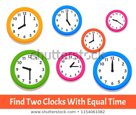 clock face cartoon educational page Stock photo © izakowski