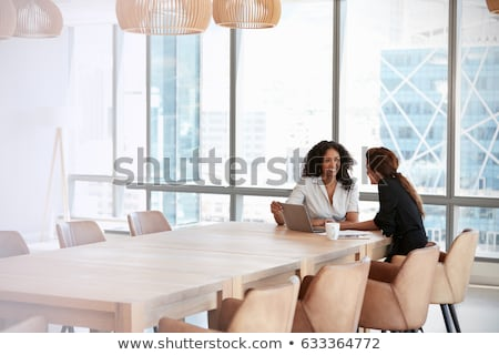 Stockfoto: Twee · onderneemsters · business · paar · baan · manager