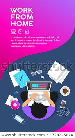 kantoorwerk · poster · tekst · monster · zitten - stockfoto © robuart