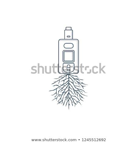 Elektromos cigaretta pára gyökér vektor művészet Stock fotó © vector1st