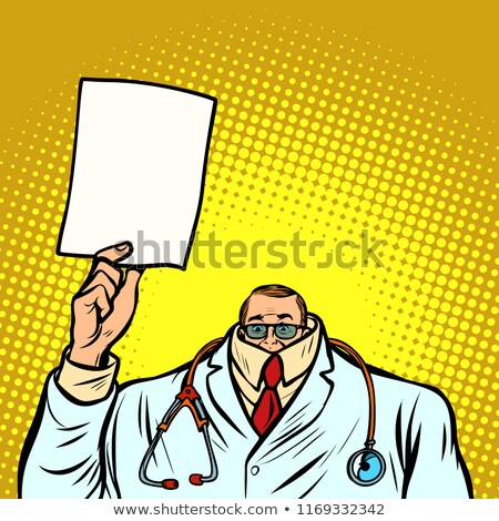 help information cowardly male doctor. Medicine and health Stock photo © rogistok