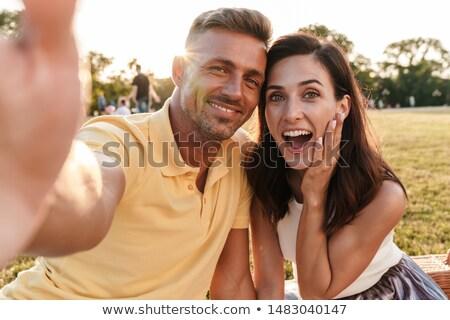 фото удивительный пару человека женщину Сток-фото © deandrobot