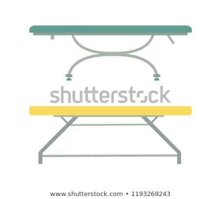 Boş masaj yatak güzellik salonu karikatür amblem Stok fotoğraf © robuart
