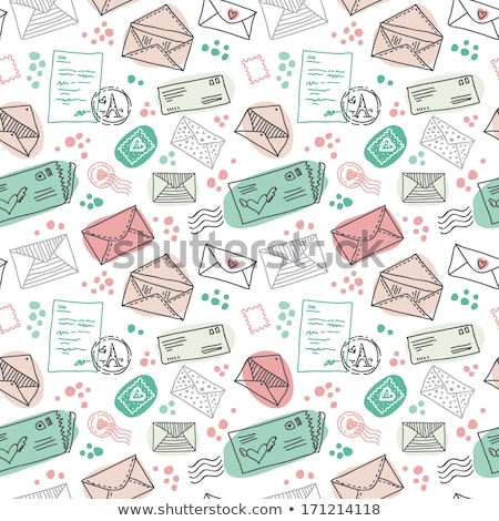 Contract Pages and Envelope Seamless Pattern Icons Stock photo © robuart