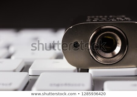 Close up key lock hole on keyboard, dark tone. Stock photo © vinnstock