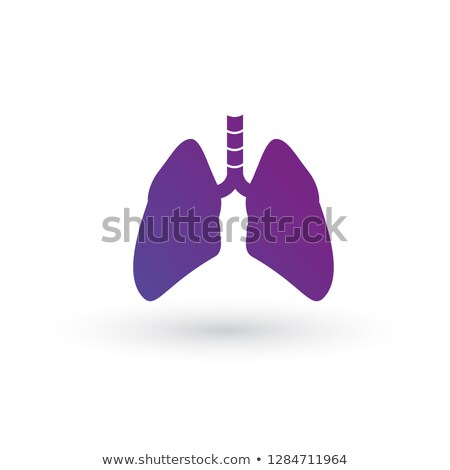 lung purple gradient icon. lung vector graphic illustration isolated on white background. Stock photo © kyryloff