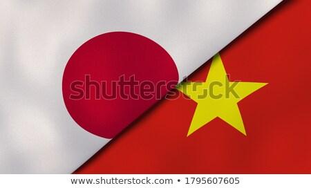 Twee vlaggen Japan Vietnam geïsoleerd Stockfoto © MikhailMishchenko