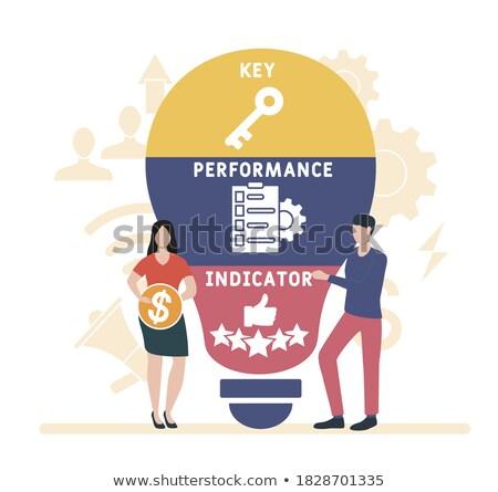achieve goal presenting data vector illustration foto stock © robuart