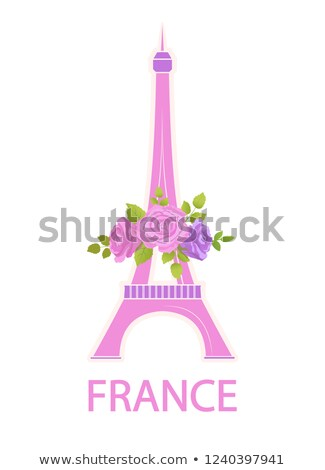 Eiffel Tower Travel Famous World Sight and Flowers Stock photo © robuart