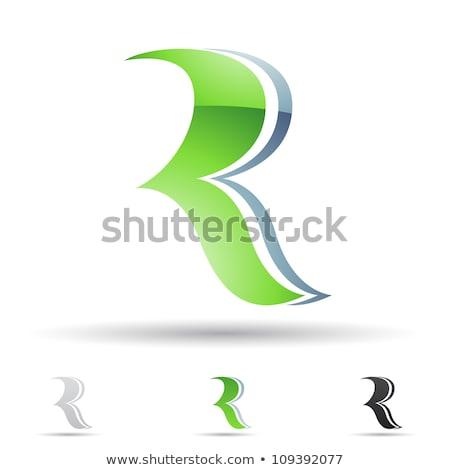 letter r set vector icon black collection element stock photo © blaskorizov