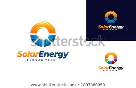 solar energy logo vector symbol icon stock photo © blaskorizov