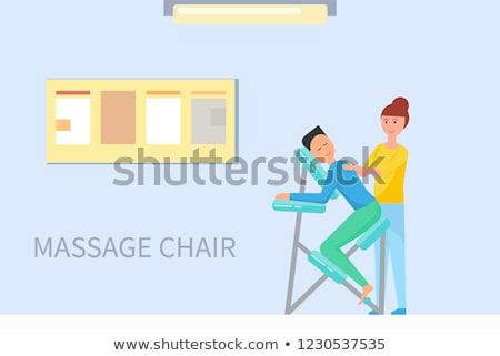Massage Stuhl Zimmer Karikatur Banner Stock foto © robuart