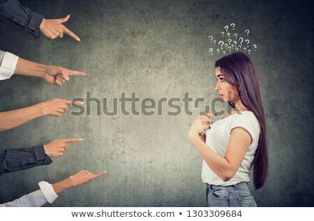 обвинение · виновный · деловой · женщины · деловая · женщина · портрет · путать - Сток-фото © ichiosea