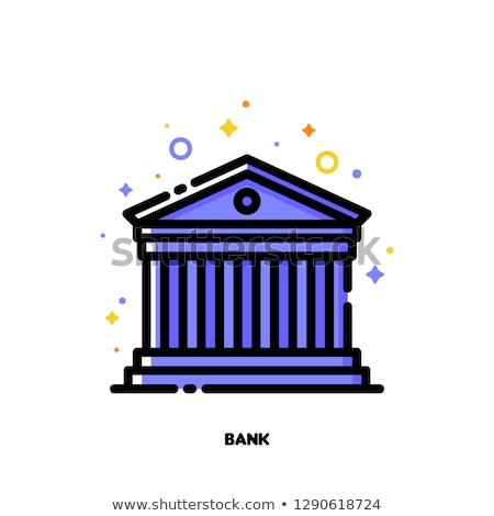 Icon of ancient roman building for bank concept. Flat filled outline Stock photo © ussr