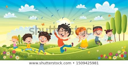 menino · equitação · andar · de · skate · pequeno · diversão · jogar - foto stock © robuart