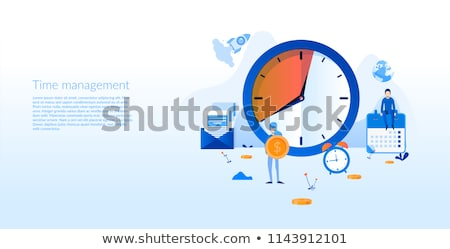 Time for Business , Success Strategy Posters Set Stock photo © robuart
