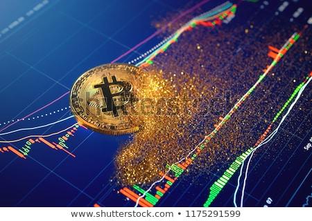 Bitcoin összeomlás üzlet kék háló világ Stock fotó © alexaldo