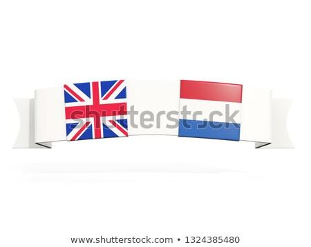 Banner zwei Platz Fahnen Vereinigtes Königreich Niederlande Stock foto © MikhailMishchenko