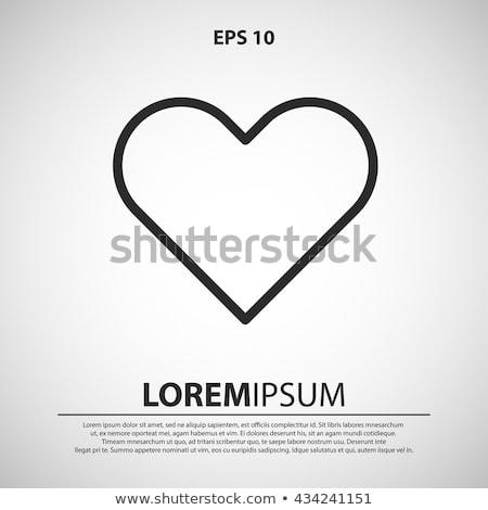 outline heart icon love symbol design element vector illustration black and white stock photo © essl
