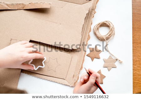 Handcrafted Gifts Made by Child Girl Christmas Stock photo © robuart