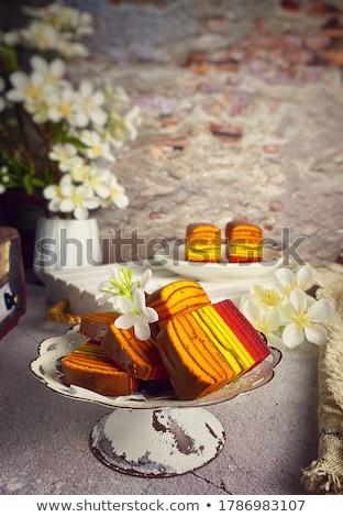 citroen · ijs · pudding · plaat · dessert - stockfoto © tycoon