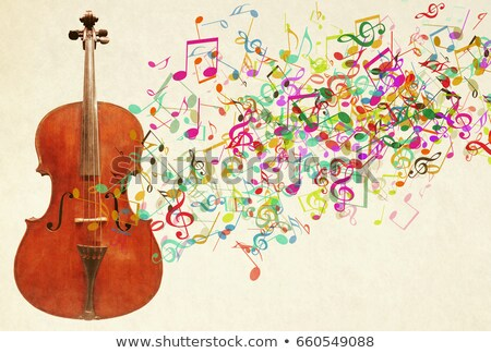 Cello and music notes in background Stock photo © colematt