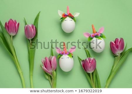 Húsvét tulipán tojások dekoratív virág gyerekek Stock fotó © furmanphoto