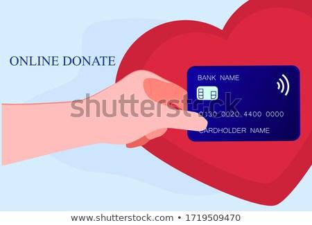 Ajuda mãos coração caridade doação Foto stock © Winner