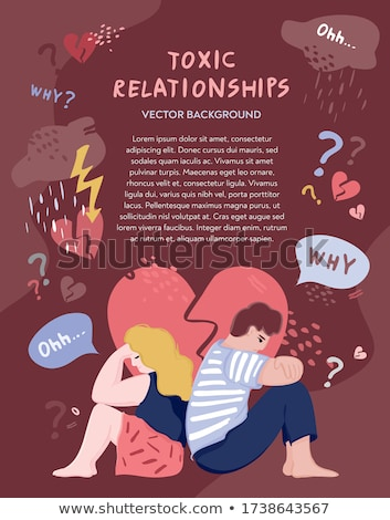 Foto d'archivio: Loneliness Cartoon Vector Poster Template With Text