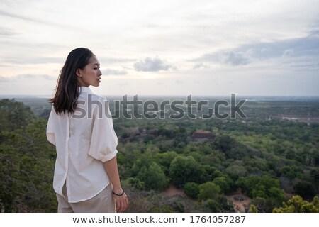 Belle asian paysage coucher du soleil au-dessus jungle Photo stock © majdansky