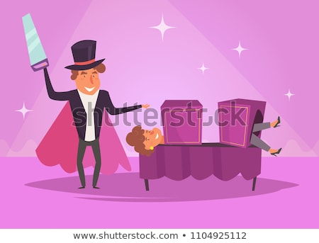 Man Magician Magic Box Illustration Stock photo © lenm